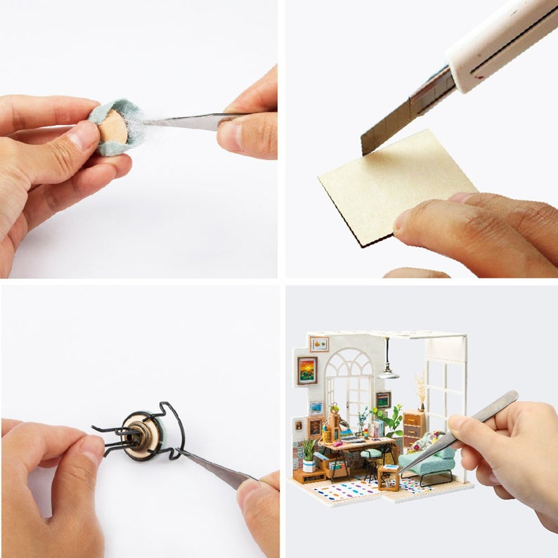 DIY 3D Wooden Puzzle Miniature House: SOHO Time