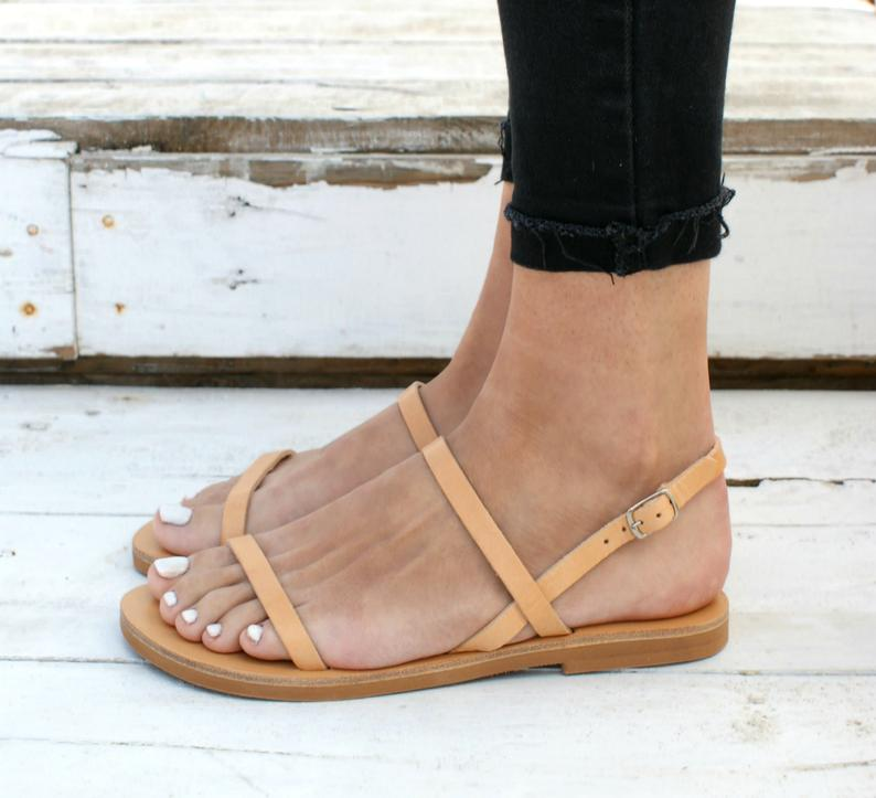 MYRSINI  sandals ancient Greek leather sandals