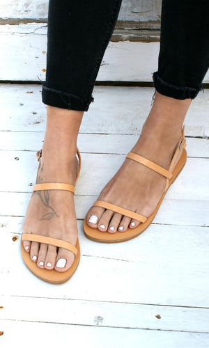 Open image in slideshow, MYRSINI  sandals ancient Greek leather sandals