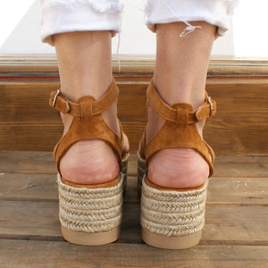 ALBA handmade women suede leather sandals