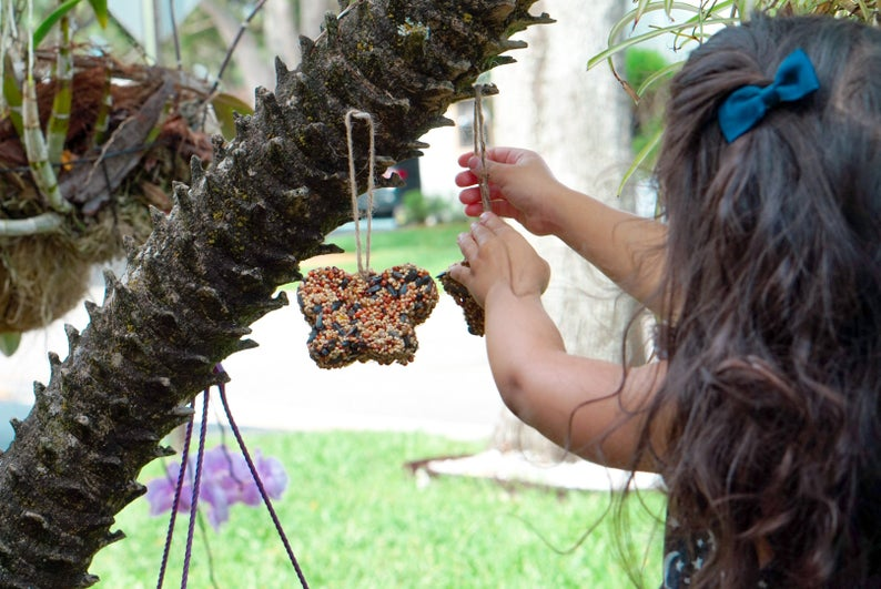 DIY Kids Bird Feeders
