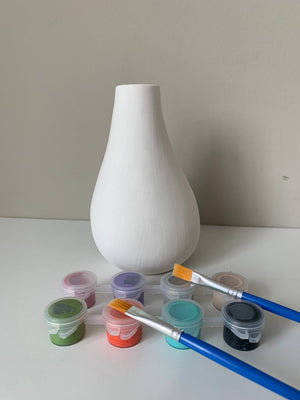 Art Kits, Pottery Painting Kit, asymmetrical vase Paint Kit, DIY Vase Paint kit, Ceramic Art Kits for Kids, Kids Art Kits, Craft Supplies