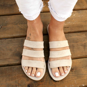 MEROPI sandals ancient Greek suede leather sandals