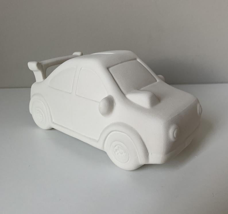 Sports Car Pottery Painting Kit, Boys Paint Kit, Boys Art Kit, Car money bank, Ceramic Art Kits for Kids, Kids Art Kits, Craft Supplies