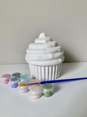 Cupcake DIY Pottery Painting Kit, Zoom Birthday Party Ideas, DIY Pottery painting, Kids Art Kits, Craft Supplies, Art Party Supply, Art box