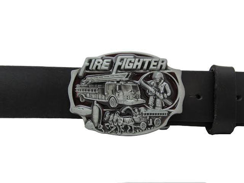 Western Fire Department Firefighter Belt Buckle