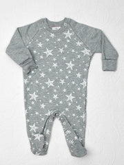 Jack Baby Grow grey with white stars