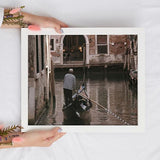 Gondolier in Venice Digital Wall Art Print - Travel-Inspired Home Decor
