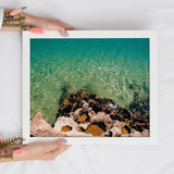 Coral Reef Beach Instant Download Print | Turquoise Blue Wall Art