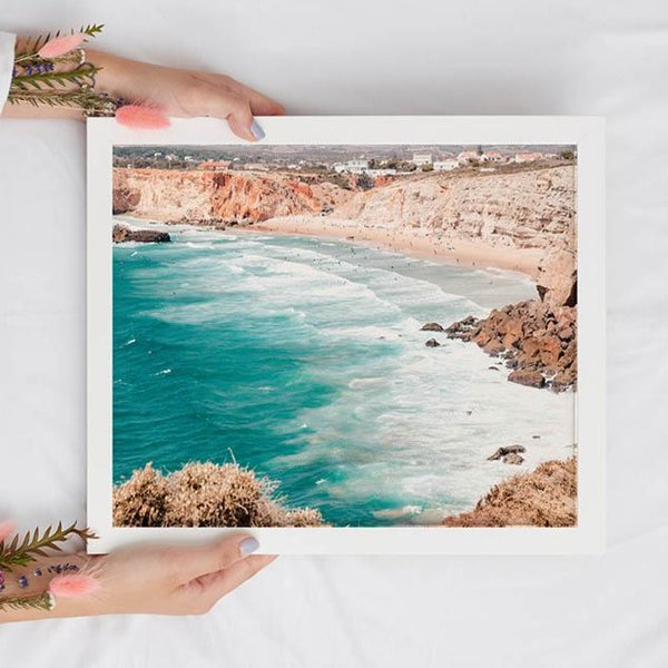 Turquoise Ocean Waves Digital Print - Tropical Beach Instant Wall Art