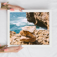 Meditation Stones Wall Art | Ocean Calming Travel-Inspired Art Prints