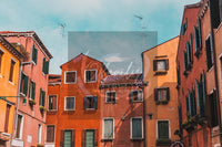 Colorful Italian Street Digital Print | Venice Travel Inspired Wall Art