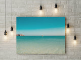 Minimalist Turquoise Ocean Print | Printable Digital Wall Art