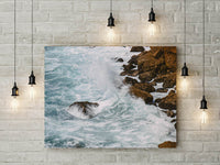 Ocean Waves Landscape Digital Print | Tropical Beach Instant Wall Art