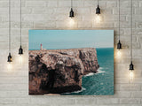Lighthouse by the Ocean Wall Art Print - Tropical Home Wall Decor