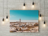 Road to the Lighthouse Wall Art - Tropical Travel-Inspired Digital Print