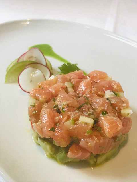Tartar of Atlantic Salmon, avocado mousse