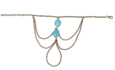 Turquoise Barefoot Anklet
