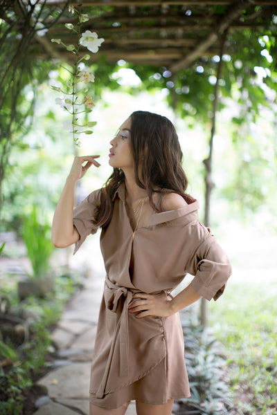 Calla Dress in Latte