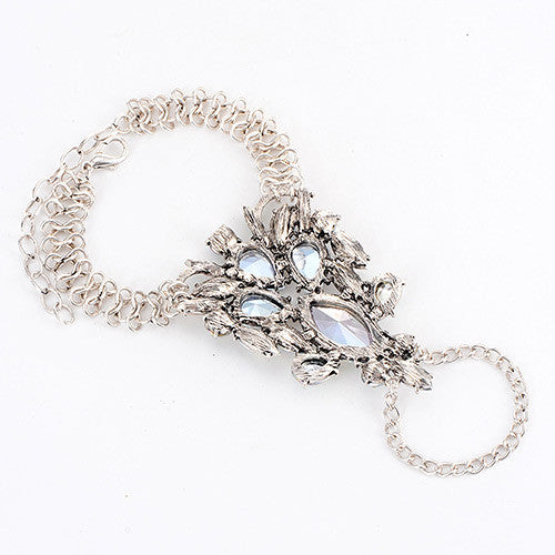 Jewels Bracelet Ring in Silver