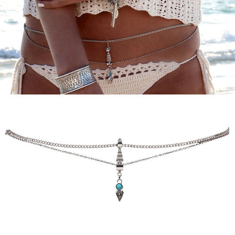 Turquoise Romance Body Chain