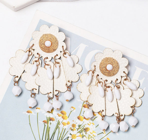 White Magnolia Earrings