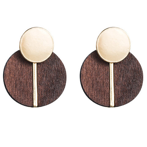 Golden Oak Earrings