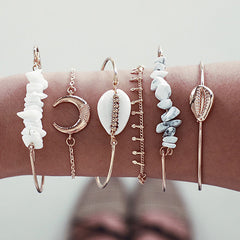 Moon & Shells Armor Bracelets Set