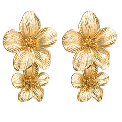 Gold Frangipani Earrings