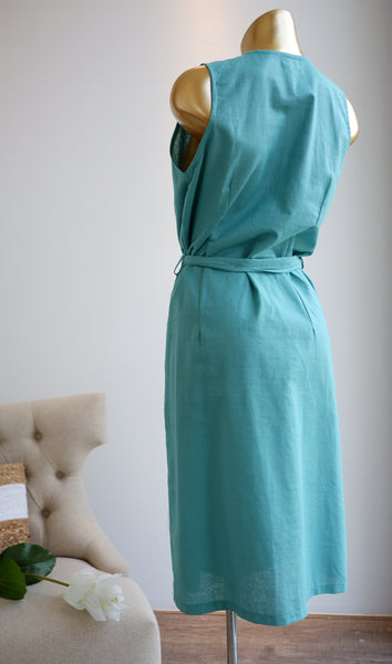 Esperanza Linen Dress in Mint