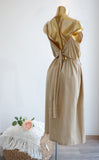 La Dolce Vita Linen Dress in Beige