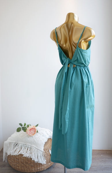 La Dolce Vita Linen Dress in Mint