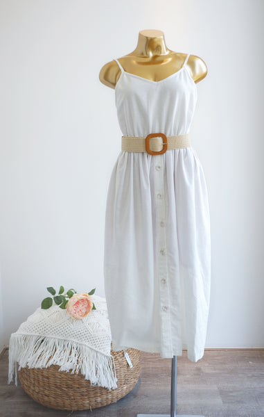 La Dolce Vita Linen Dress in White