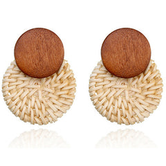 Aspen Rattan Earrings
