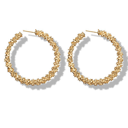 Love in the Mist Hoop Earrings