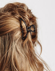 Metal Hair Clip in Black