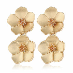 Gold Poppy Earrings