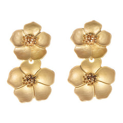 Gold Flora Earrings