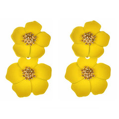 Yellow Flora Earrings