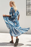 Wild Flower Dress in Blue