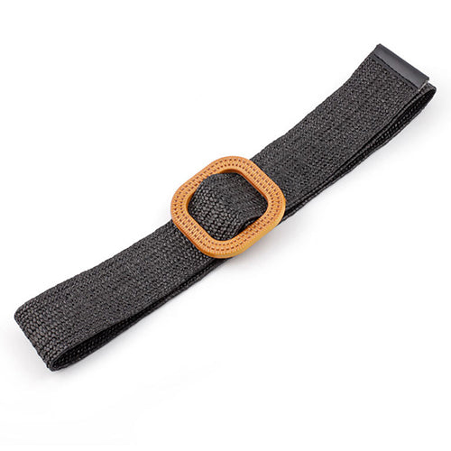 Natural Jute Belt in Black