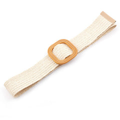 Natural Jute Belt in White
