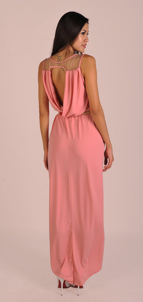 Iris Maxi Dress in Orchid Pink