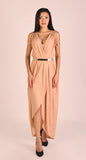 Iris Maxi Dress in Peach Gold