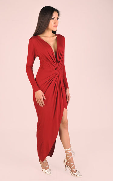 Godiva Dress in Red Wine
