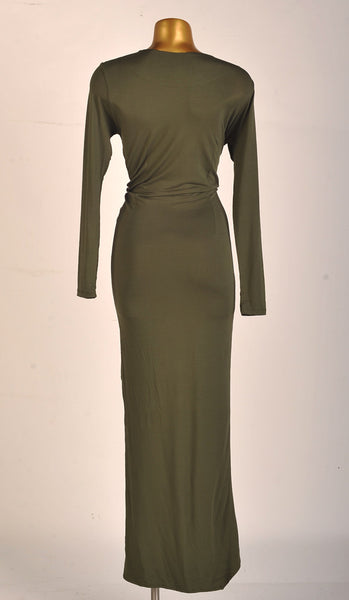 Godiva Dress in Forest Green