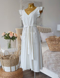 Soleil Linen Dress in White