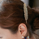 Bronze Feather Hair Pin