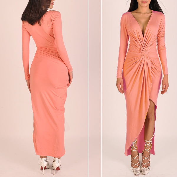 Godiva Dress in Coral Haze