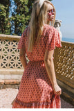 La Bohéme Resort Dress in Coral
